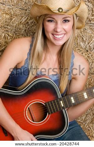 Country Music Girl - stock photo