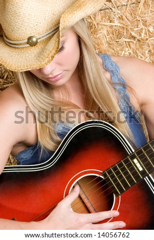 Country Music Star - stock photo