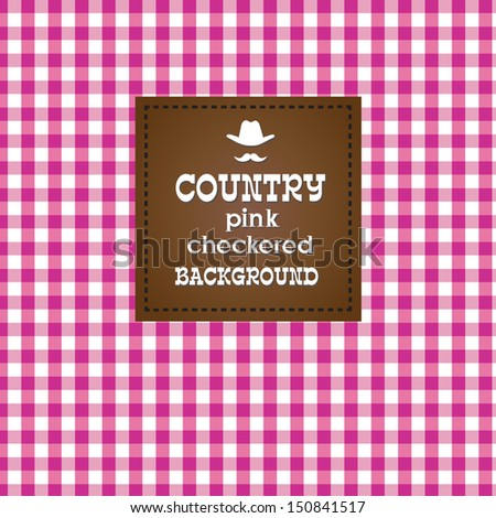 Country pink checkered background. - stock photo