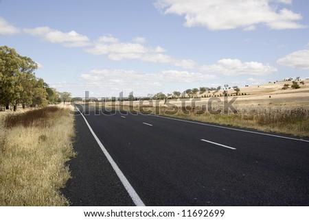 country road nsw australia - stock photo