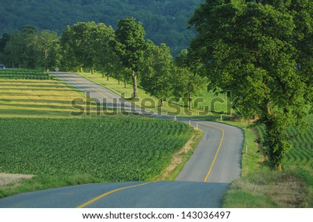 Country Road, Pennsylvania - stock photo