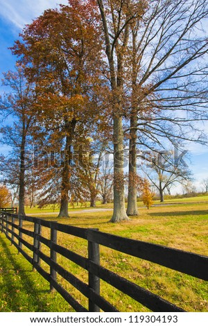 Country scenery on late autumn season. - stock photo