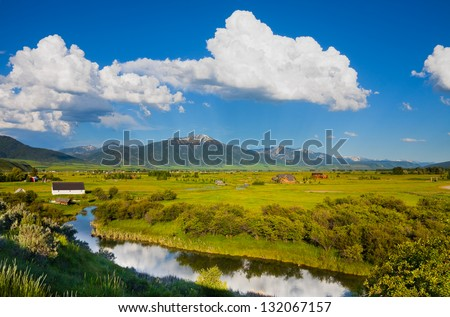 Countryside in eastern Idaho - stock photo