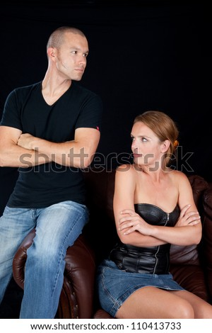 Couple angry with each other - stock photo