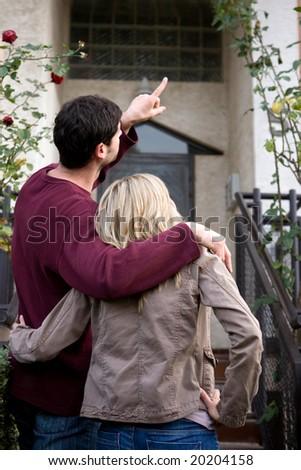 couple buying real estate - stock photo