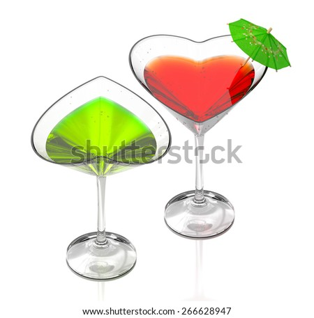 couple cocktails - stock photo