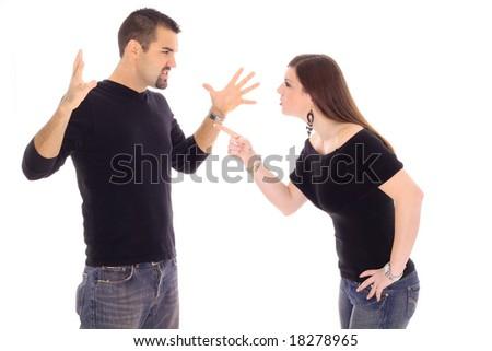couple conflict - stock photo