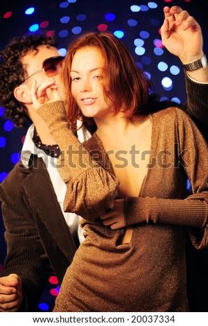 Couple dancing - stock photo