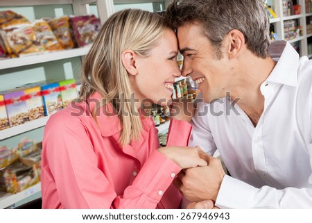 couple enjoying a coffee together - stock photo