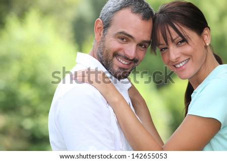 Couple face to face - stock photo