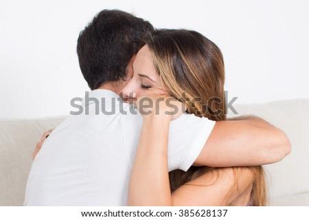 Couple hagging - stock photo