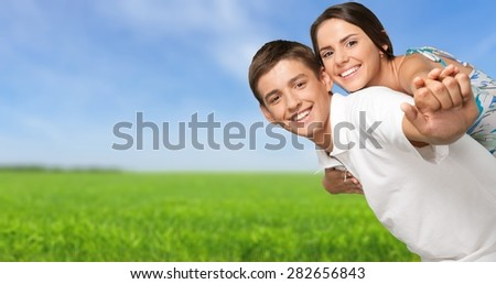 Couple, Happiness, Cheerful. - stock photo