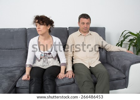 Couple have an argument - stock photo