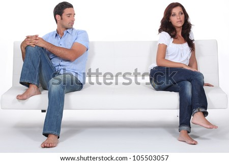 Couple having a disagreement - stock photo