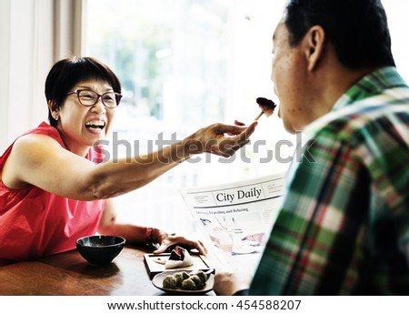 Couple Husband Wife Bonding Sharing Together Concept - stock photo