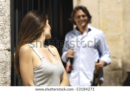 Couple in holiday - stock photo