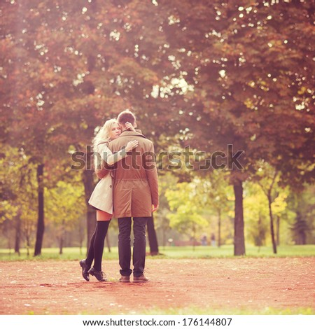 couple in love on a spring day - stock photo