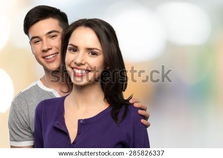 Couple, Key, Loan. - stock photo