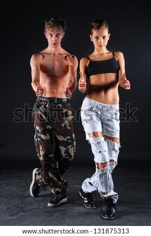 Couple of dancers - stock photo