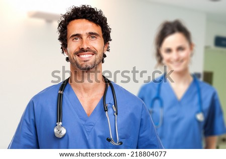 Couple of doctors - stock photo