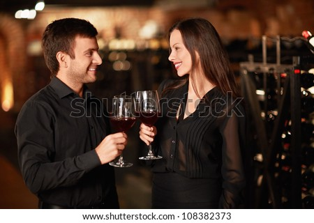 Couple of glasses of wine - stock photo