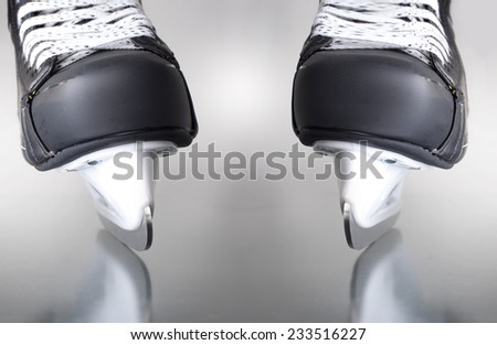 Couple of skates. hockey.  - stock photo