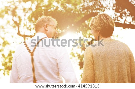 Couple Senior People Family Togetherness Concept - stock photo