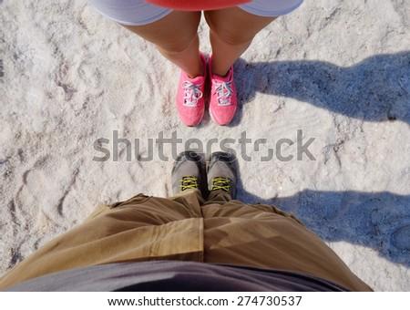 Couple travelers - stock photo