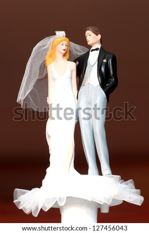 Couple wedding doll - stock photo