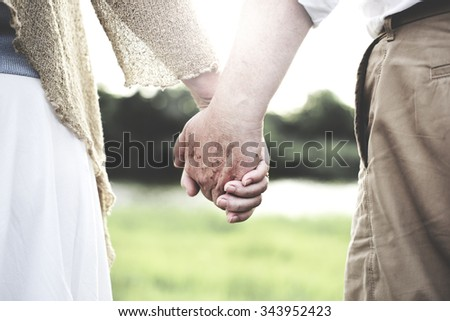 Couple Wife Husband Dating Relaxation Love Concept - stock photo
