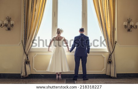 couple windows - stock photo