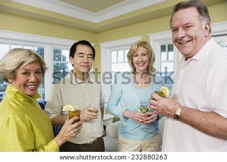 Couples Relaxing at Home - stock photo