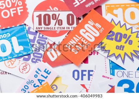 Coupon - stock photo