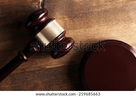 Court, lawyer, gavel. - stock photo