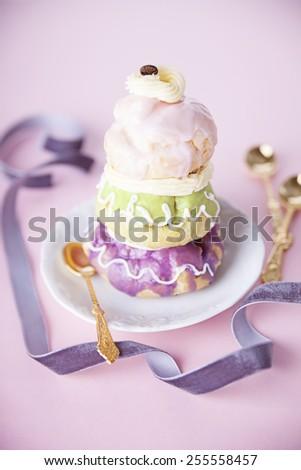 Courtesan au Chocolat Pastry - stock photo
