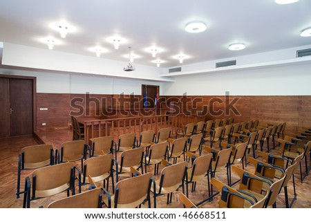 courthouse interior - stock photo