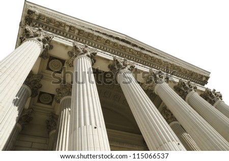 courthouse isolated on white background - stock photo