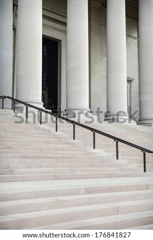 Courthouse Pillars - stock photo