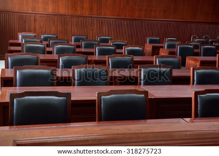 courtroom,The model for law schools. - stock photo