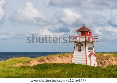 Covehead Lighthouse in Stanhope (Prince Edward Island, Canada) - stock photo