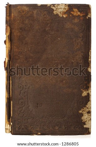 cover of an old book - stock photo