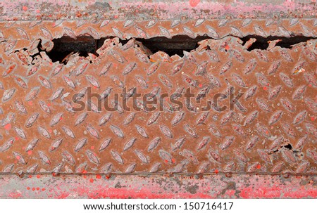 Covering gutter rust. - stock photo