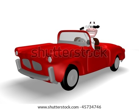 cow car - stock photo