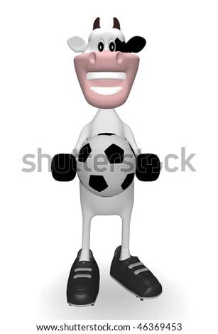 cow soccer ball - stock photo
