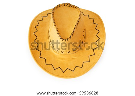Cowboy hat isolated on the white background - stock photo
