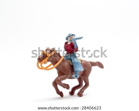 cowboy toys - stock photo