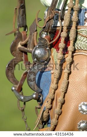 cowgirl gear - stock photo
