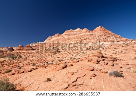 coyote buttes erosion formations (Arizona USA) - stock photo