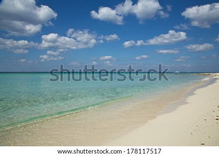 Cozumel beach - stock photo