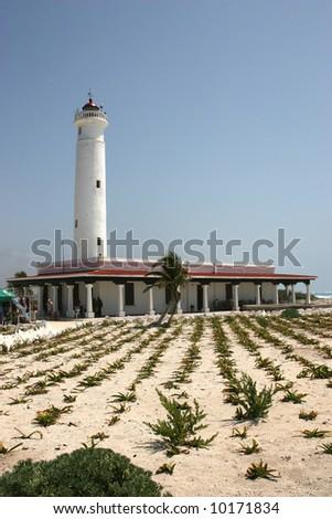 Cozumel Lighthouse - stock photo